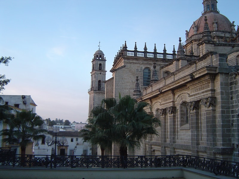 Cathedral and other buildings in Jerez de la Frontera