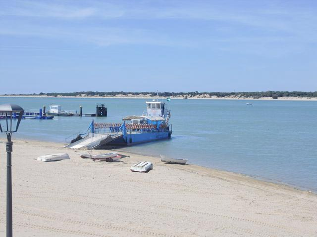 Fishing boat during the sherry tour in Sanlúcar de Barrameda