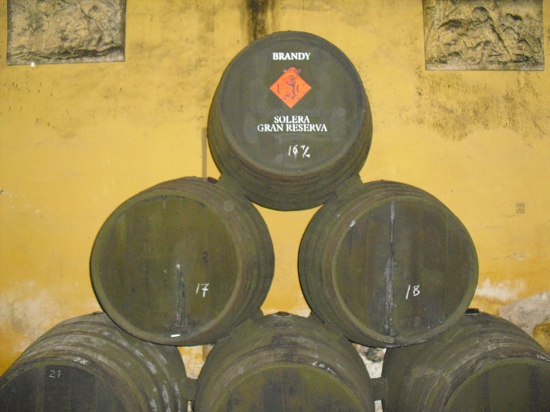 A stack of butts containing Jerez brandy