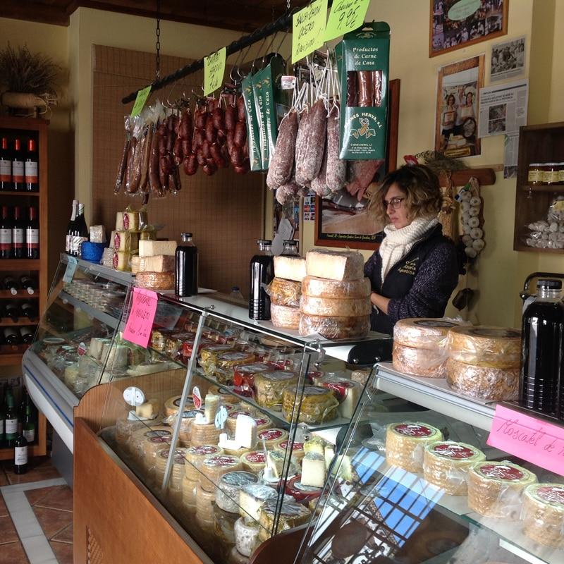 Inside of a delicatessen in Grazalema
