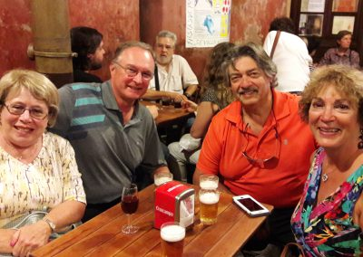 A group of people during our tapas tours