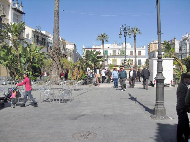 Center of Sanlucar during our sherry tour