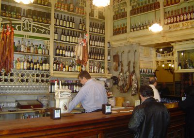 Interior of oldest tapas bar in Seville