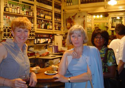 Three women having tapas at oldest bar in Seville during our tapas tour
