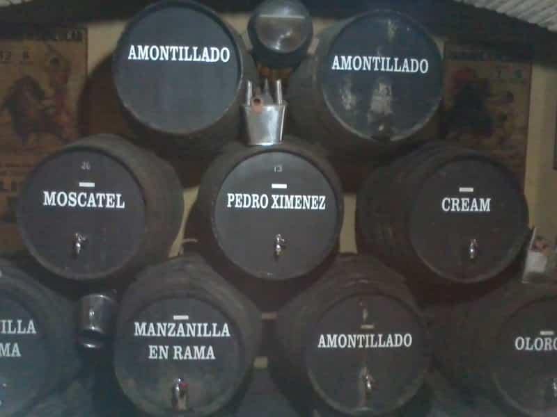 Sherry barrels in Sanlucar de Barrameda
