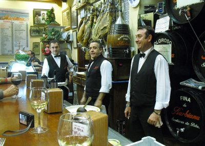 A group of waiters during our tapas tours